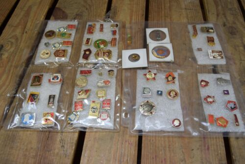 Lot of 50+ Russian Political Communist Enamel Pins Vladimir Lenin
