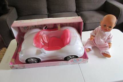 Baby Born White Cabriolet Car NEW + Doll