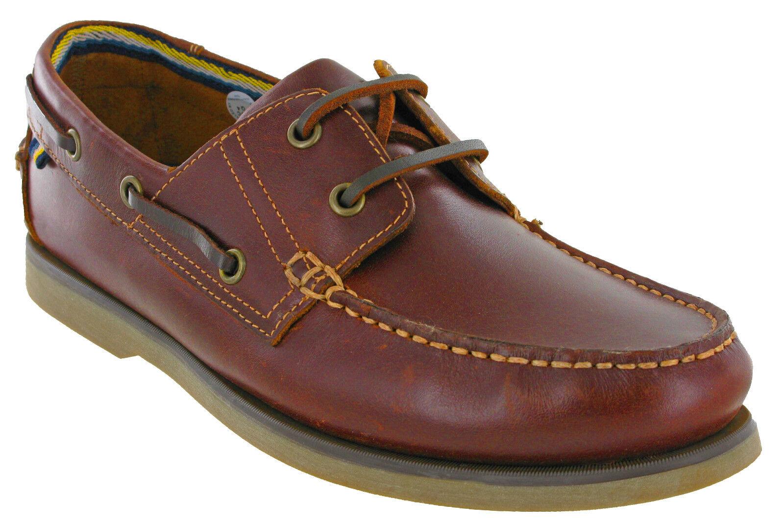 a84135e371a Hombres de cuero barco zapatos Catesby marrón encaje ligero de verano  caminando Reino Unido 6-12
