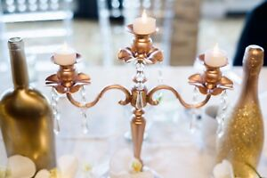 Gold and Rose Gold Wedding Decor