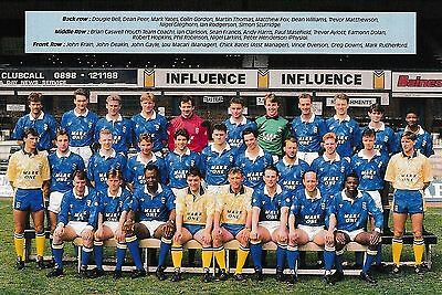 BIRMINGHAM CITY FOOTBALL TEAM PHOTO 1990-91 SEASON