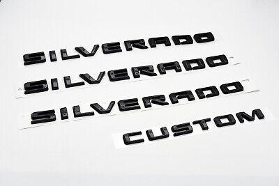 Chevrolet Silverado Door & Tailgate Silverado Custom Matte Black Emblem 84300948