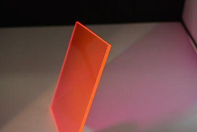 Red Fluorescent Plexiglass Acrylic Sheet 9095 18 X 12 X 12