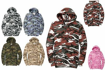 - MEN'S MILITARY CAMO, CAMOUFLAGE, LIGHTWEIGHT PULLOVER HOODIE, COTTON/POLY, S-4XL