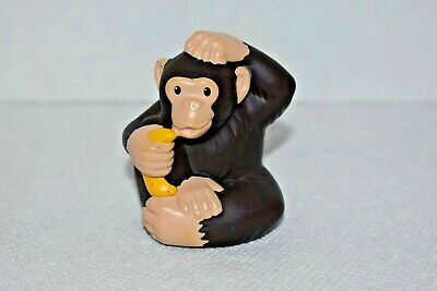 Fisher Price Little People Zoo Talkers Chimpanzee w/Banana Figure (Replmnt Part)