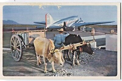 AMERICAN AIRLINES Mexico Advertising Postcard English/Spanish Vintage 1970s