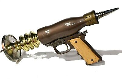 STEAMPUNK SPACE Custom Alien FUTURE Laser Toy Prop Hand Gun Costume Cosplay 054