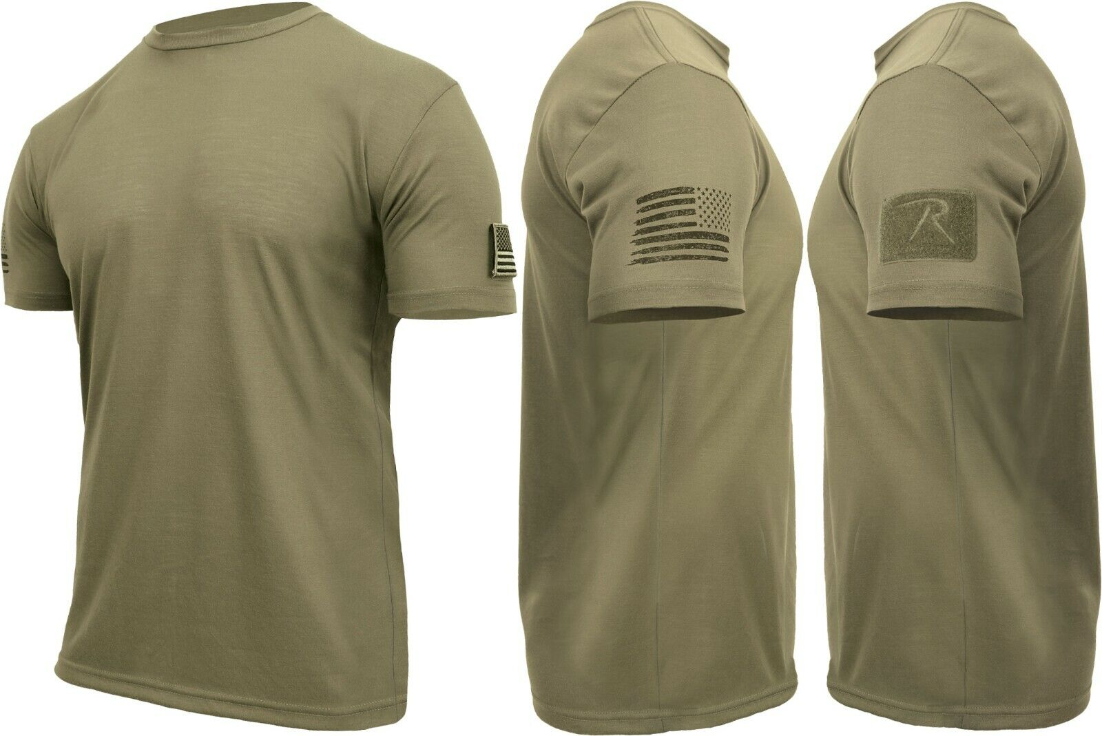 Mens Tactical Athletic Muscle T-Shirt with US Flag & Loop Field Clothing, Shoes & Accessories