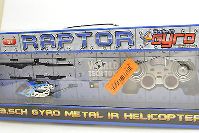 Raptor 3.5CH Gyro Metal IR Helicopter - World Tech Toys 35632 NIB - Gyro Metal Ir Helicopter