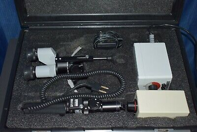 Zeiss Hso-10 Portable Slit Lamp With Carrying Case Battery Pack