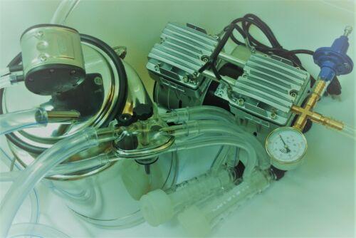 Regulated Portable Goat Bucket Milker OIL-LESS Vacuum Pump Pulsator_Claw Cluster