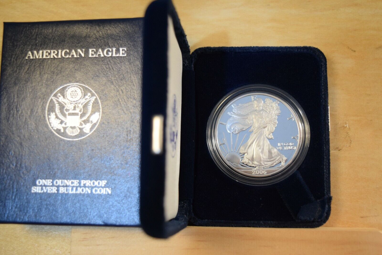 2006 American Eagle Silver Dollar PROOF With ORIGINAL US MINT BOX  - $49.99