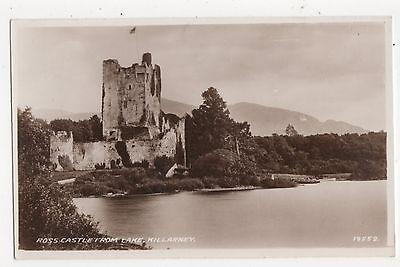 Ross Castle From Lake Killarney Ireland Vintage RP Postcard 349a