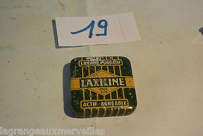 C19 Boite en métal Laxiline laxatif purgatif