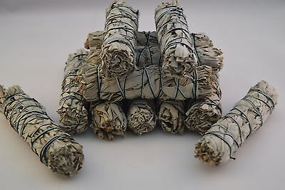 "California White Sage Smudge Incense 4""- 4 1/2"" Bundle (12 pcs)"