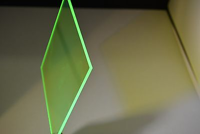 Green Fluorescent Plexiglass Acrylic Sheet Color 9093 18 X 12 X 12