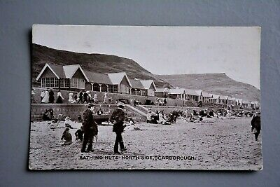 R&L Postcard: Scarborough North Side Bathing Beach Chalet Huts (Beach Huts Scarborough)