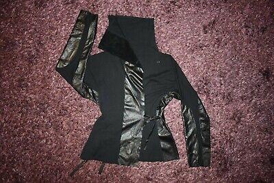 IVAN GRUNDAHL Asymmetric Blazer Leather/Cotton Sz XL