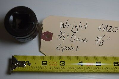 Qty 1 Wright 6820 34 Drive 58 Standard Impact Socket 6-point Wrench Usa