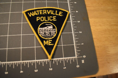 Vintage Waterville ME Police Patch