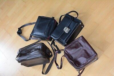Konvolut von 4 Fototaschen im guten Zustand universell passend Leder Kunstleder