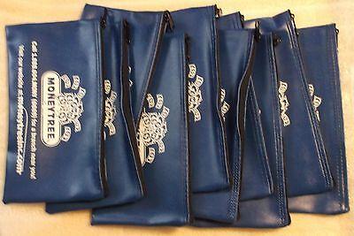 QTY 10 BLUE Zippered / Bank / Deposit / Pouch / Safe / Money Organizer Art / Bag