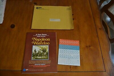 SPI Games Napoleon at Waterloo - Unpunched