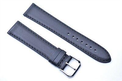 Junghans Ersatzband Uhrenarmband Leder Band Mega Solar Max Bill 20 mm Schwarz