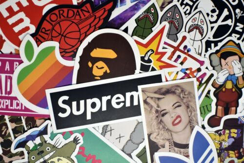 100 Hypebeast Vinyl Stickers for Hydro Flask Laptop Car Bumper Luggage Bottle