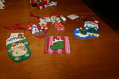 5 NWT ASSORTED  Christmas Decorations ORNAMENTS/WALL HANGINGS SEE LISTING