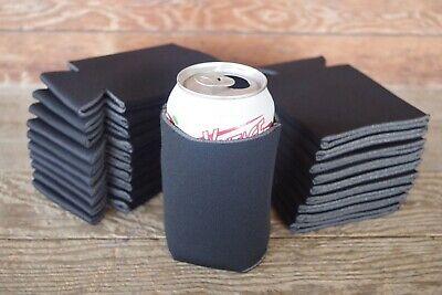 Black Can Cooler Huggie Koozie Blank Lot 25 Party Sublimation Wedding PRINTABLE