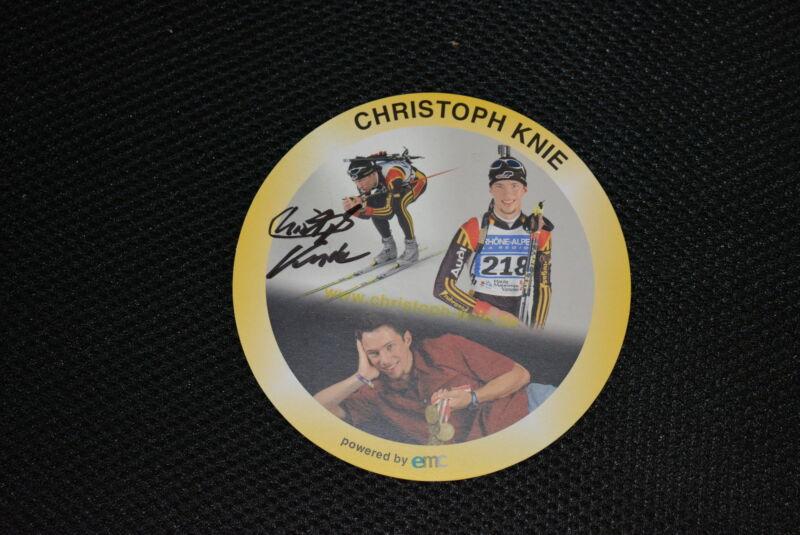 CHRISTOPH KNIE signed Autogramm  10x15 cm  BRONZE WM 2009 Sommer - Biathlon