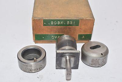 Punch Die Set Roper Whitney Press Diacro Oval .203 X .531 Thor 2-5045