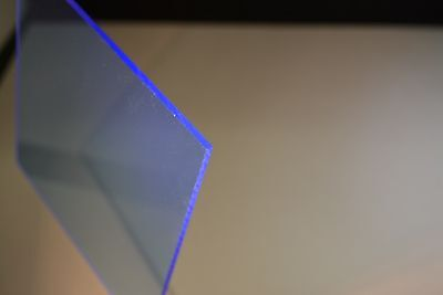 Blue Fluorescent Acrylic Plexiglass Sheet 18 X 16 X 16
