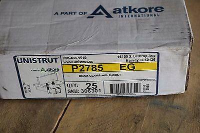 Unistrut P2785 Eg Beam Clamp 1-58 U-bolt B-line Channel Framing System 25pc