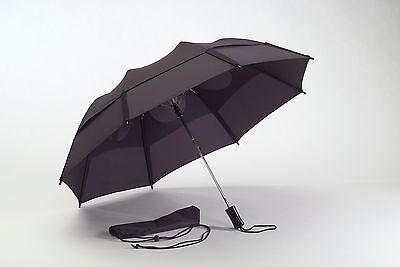 """Gustbuster 43"""" Metro collapsable travel umbrella logo overruns no color choices"""