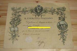 Diploma-Tenente-Carabinieri-Reali-CCRR-tiro-con-il-moschetto-Firenze
