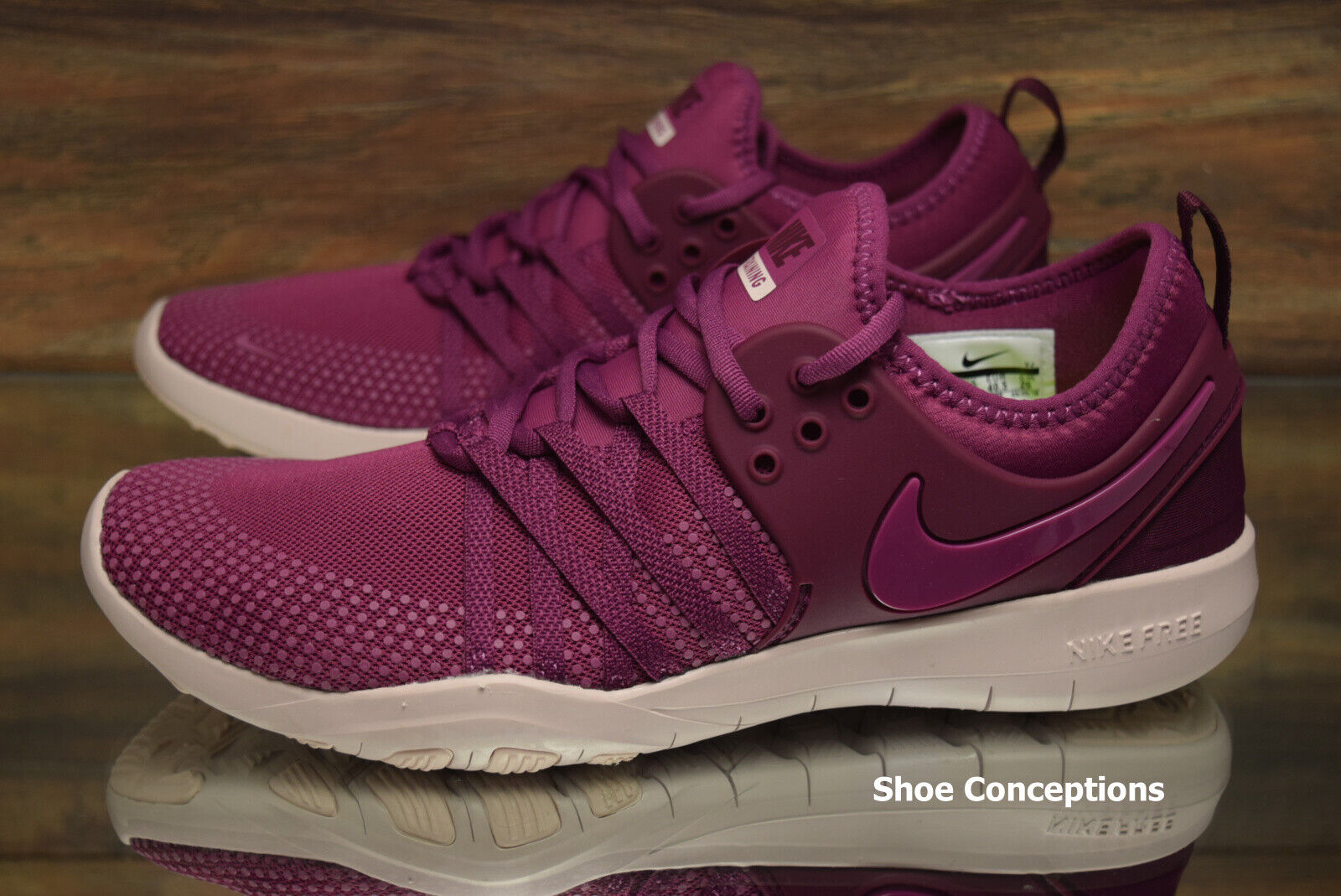 Nike Free TR 7 Purple Red 904651-603 Training Shoes Women's Multi Size NEW 1
