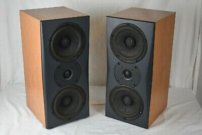 Pair Triad Inroom Silver Monitor Bookshelf Speakers Scan-Speak Revelator Seas
