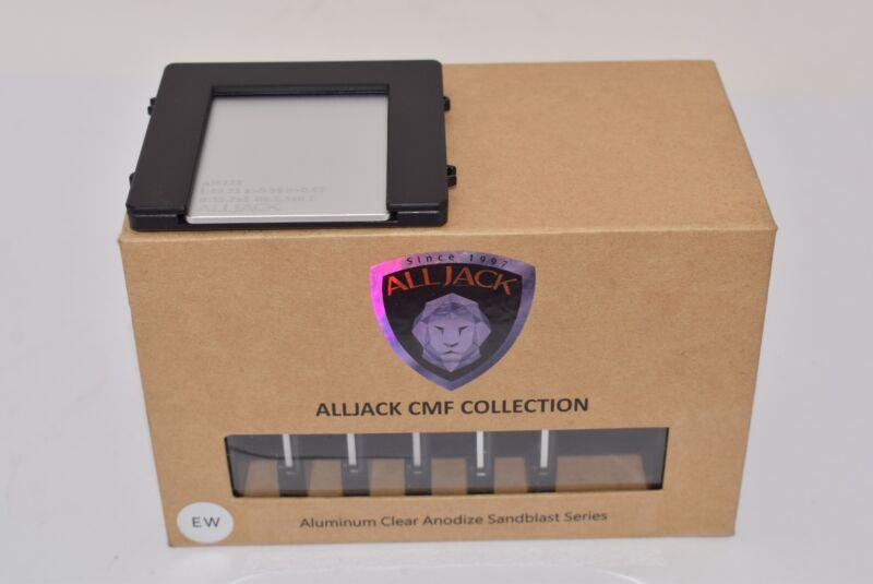 NEW ALLJACK CMF Collection, Aluminum Clear Anodize Sandblast Series