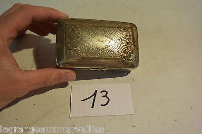 C13 Belle boite en métal cigares cigarette