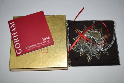 Gorham Annual Sterling Snowflake Ornament 2006 Used Bad Box