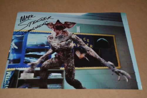 MARK STEGER signed autograph In Person 8x10 (20x25cm) STRANGER THINGS