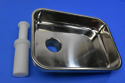 Meat Grinder Tray Pan And Pusher Stomper. 2 316 Drop Tube.