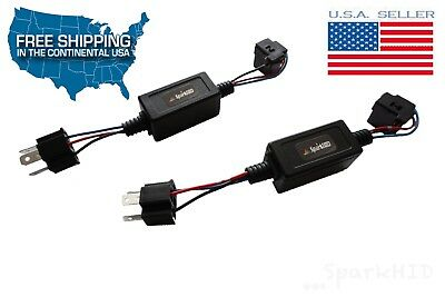 All ON Low Beam With High Beam Conversion H4 9003 Headlight Wiring Harness Plugs