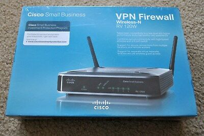 NEW Sealed Cisco Small Business VPN Firewall Wireless N RV120W RV 120W Router Cisco Small Business Firewall