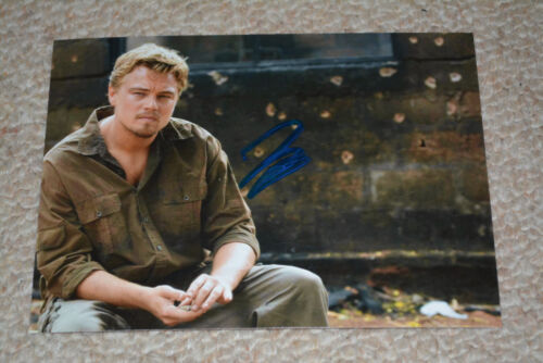 LEONARDO DICAPRIO signed Autogramm 13x18 cm In Person Rar!!