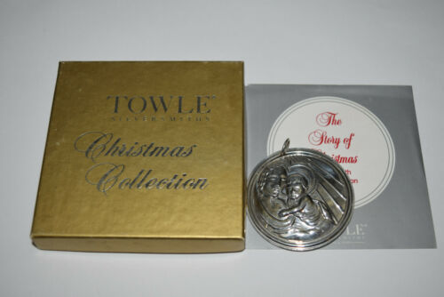 Towle Sterling Story of Christmas Ornament 1993 Mother and Child Used