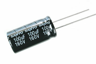 4pcs Sanyo Se 100uf 160v 105c Radial Electrolytic Capacitor Low