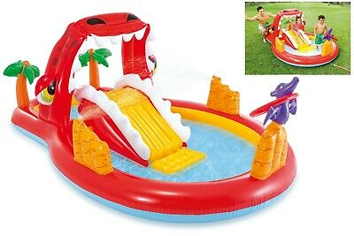 Intex Happy Dino Play Center Pool For Kids With Toys New Outdoor Play Fun